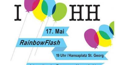 Rainbowflash gegen Homo- und Transphobie am 17. Mai um 19 Uhr - mach mit!