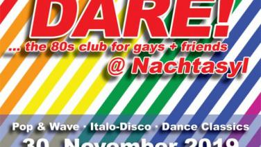 DARE! @ Nachtasyl, Thalia Theater, 80er, 80s, 80th, gay, queer, lgbt, Pop, Wave, Italo Disco, Dance Classics, Hamburg, frankie dare, shannon, let the music play, aids hilfe, welt aids tag, karl ludger menke