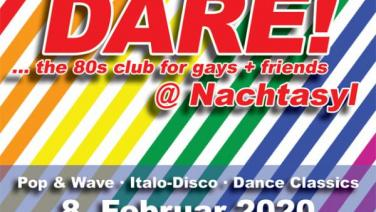 DARE! @ Nachtasyl, Thalia Theater, 80er, 80s, 80th, gay, queer, lgbt, Pop, Wave, Italo Disco, Dance Classics, Hamburg, frankie dare, chris flyke, christopher fleig, duran duran, hungry like a wolf