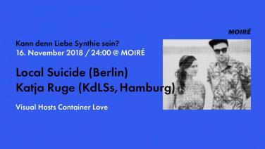 Kann denn Liebe Synthie sein Party 16.11.2018