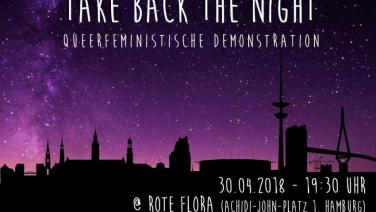 Flyer Take Back The Night 2018