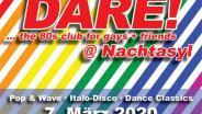 DARE! @ Nachtasyl, Thalia Theater, 80er, 80s, 80th, gay, queer, lgbt, Pop, Wave, Italo Disco, Dance Classics, Hamburg, frankie dare, sven enzelmann, mad world, tears for fears
