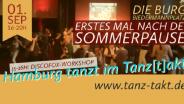 Tanz-Takt- das queere Tanz-Vergnügen in HH Barmbek am 01.09.19